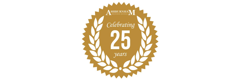 Ashburnham Celebrating 25 Years Header
